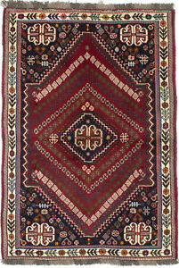Wool Handmade Tribal Design Small 3'5X5'0 Red Oriental Rug Home Decor Carpet