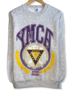 Vintage YMCA Men's Size L Mind Spirit Body Beverly Regional Gray Sweatshirt USA