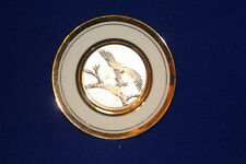 """Art of Chokin mini plate approx 4"""" with Eagle design made in Japan"""