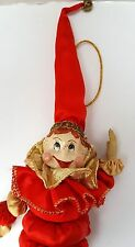 Katherines Collection Wayne Kleski Christmas Ornament Santa Elf Jester Gold Red