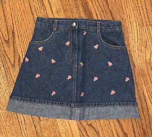 Gymboree NWOT Sz 7 Island Fun Denim Skort/Skirt Floral Jean