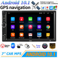 "7"" Double 2 DIN Android 10.1 Car MP5 MP3 Player Touch Stereo Radio WiFi GPS 16GB"