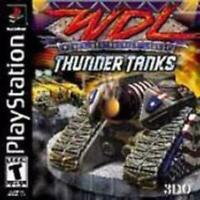 WDL World Destruction League Thunder Tanks Playstation 1 Game PS1 Used