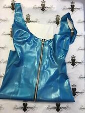 R0441 Rubber Latex GORGEOUS Mistress DRESS PS BLUE 10UK Westward Bound SECONDS