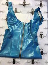 R441 Rubber Latex GORGEOUS Mistress DRESS PEARLSHEEN BLUE 6/8 Westward Bound