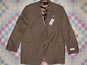 Joseph & Feiss Blazer 48L 100% Wool Back Vent 2 Button Sport Coat NWT