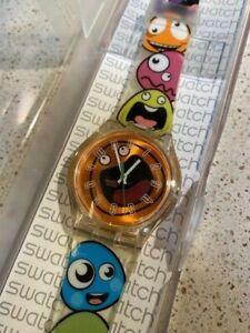 Swatch Pop Wave SUJK108 Jelly in Jelly 37mm Swiss New Old Stock Watch