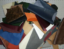 5 Lbs Pounds Upholstery Leather Scrap Mixed Colors for Crafts