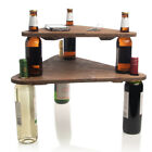 2pc Tiered Triangular Make a Table Set College Dorm Home Décor Wine Beer Bottles