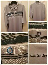 Travis Mathew Polo Shirt XL Core Hydration Golf Gray Design Polyester Stretchy