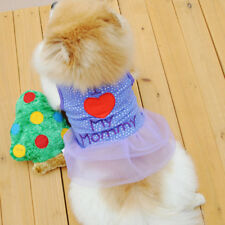 Chien Chiot Chat I Love My Mommy Été Gilet Jupe Mini Robe Pull Vêtements Costume