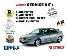 para Renault Laguna 2.0 dCi 150bhp 2005-2007 Aire Aceite Combustible Pollen 4