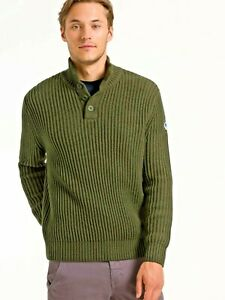 North Sails Pullover Half Buttons Sweater kombu grün Gr.L   9355 443