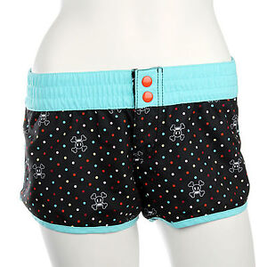 Paul Frank $78 CAD Blue Black Skurvy Swim Polka Dot Short Swimming Boy Shorts