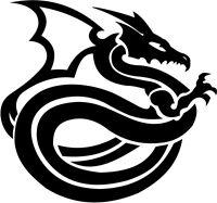 Dragon Tribal Dragons Car Decal Window Sticker TRB003