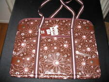 NWT MIXX Brown & Pink Flower Laptop Tote
