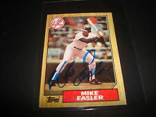 1987 TOPPS # 135 MIKE EASLER YANKEES Pirates Red Sox SIGNED AUTOGRAPH CARD