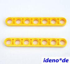 LEGO Technic Technik 2 Stk. Liftarm 1 x 7 gelb flach dünn 32065 8043 NEUWARE