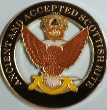 Masonic Ancient Accepted Scottish Rite 33rd Degree Car Emblem