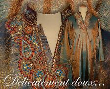 Très jolie Tunique indienne, chemise longue unisexe très confortable - tu26