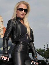 Lederjacke Leder Jacke Schwarz Kurz Maßanfertigung
