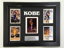 KOBE BRYANT PROFESSIONALLY FRAMED, SIGNED PHOTO COLLAGE WITH PLAQUE