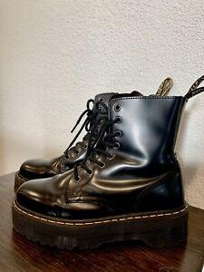 Dr. Doc Martens Jadon Heel Combat Boot Shoes Women Sz 9