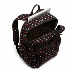 NWT Vera Bradley Campus Tech Backpack  Havana Dots