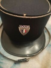 More details for authentic french police hat. 1959. antique.