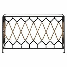 "Crossed Rope 52"" Metal Console Table 
