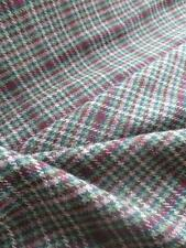 Scottish Tweed Pure New Wool Fabric- Estate Check- 175 cm x 150 cm