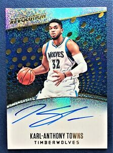 KARL ANTHONY-TOWNS Auto On-Card 2017-18 Revolution Autograph Timberwolves