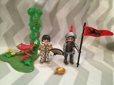 Playmobil spares knight,princess with plants etc accessories