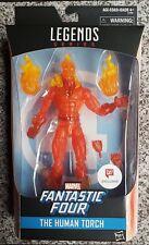 "Exclusive Fantastic Four Marvel Legends The Human Torch Action Figure 6"""