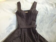Beautiful Nanette Lapore Dress Size 0 Black Cotton Eyelet Sun Dress knee Length