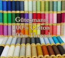 Gütermann Cotton Thread 100m Reel Machine and Hand Sewing Quilting 100 Colours