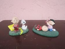 """2 Peanuts """"Danbury Mint"""" scenes with figurines for sale by owner!"""