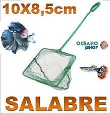 SALABRE 10x8,5CM ACUARIO de malla RED Verde pecera peces mango tortuguera pez