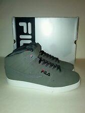New FILA VULC 13 Mens Athletic Shoe Sz 12 GREY Adjustable Strap Castlerock Black