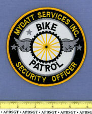 MYDATT SERVICES SECURITY OFFICER BIKE PATROL TENNESSEE Police Patch WINGED WHEEL