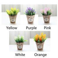 Garden Decor With Pot Outdoor Artificial Flower Fake False Plants Flowers``