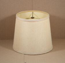 """Vintage Mid Century Artemis Studios Burlap Round Drum Lamp Shade 8.5""""H X 10.25""""W"""