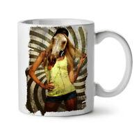 Girl Beast Wild Animal NEW White Tea Coffee Mug 11 oz | Wellcoda
