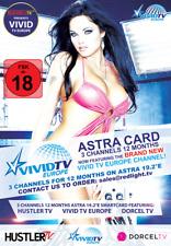 Hustler TV / Dorcel TV / VIVID TV / Dorcel XXX ASTRA Viaccess Karte 12 Mon FSK18