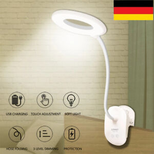 Leselampe LED Klemmleuchte USB Dimmbar Bettlampe Schreibtischleuchte DHL