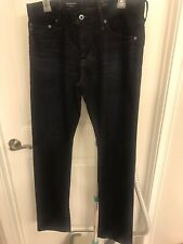 NWT! Women's AG Adriano Goldschmied Black The Graduate Tailored Leg Jeans Sz 32