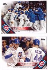 2016 CHICAGO CUBS Team Set Series 1 & 2 w/ 4 LL's & Updates Topps 45 Cards