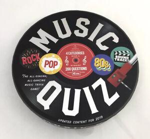 MUSIC QUIZ POP ROCK 80'S SOUND TRACKS GAME 2019
