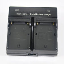 Dual-Channel Battery Charger for Sony NP-FM500H A900 A850 A580 A500 A65 A77 A99V