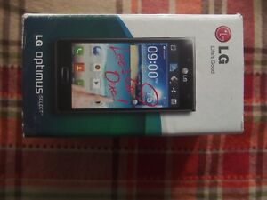 LG OPTIMUS SELECT OPEN MOBILE CELL PHONE LG-AS730BK READ CONDITION